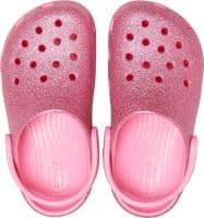Crocs Kids Classic Glitter Clog Childrens Beach Pink Lemonade